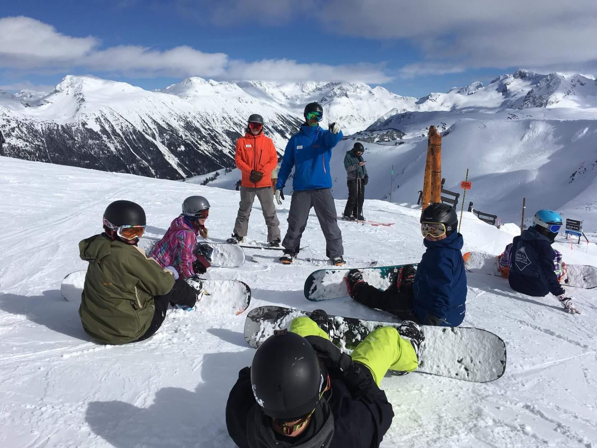 Snowboard team photo