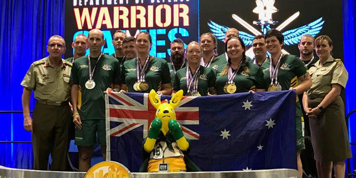 Warrior Games 2019 - Team Australia medal winners