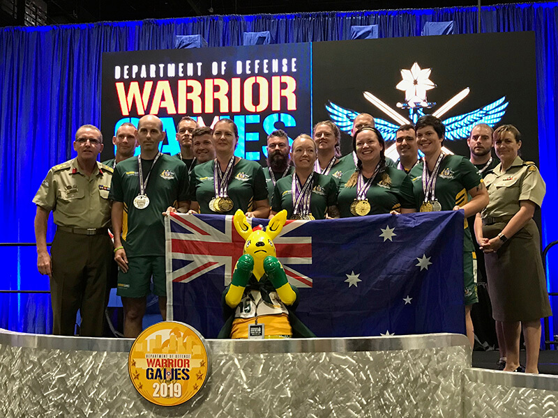 Warrior Games 2019 - Team Australia medal winners
