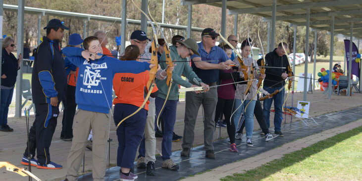 Veteran Sport Australia and Archery Australia in Canberra
