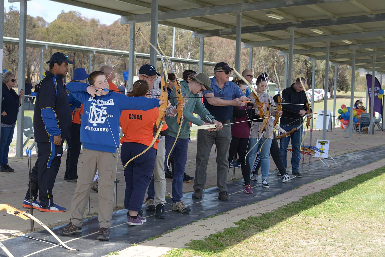 Veteran Sport Australia and Archery Australia in Canberra