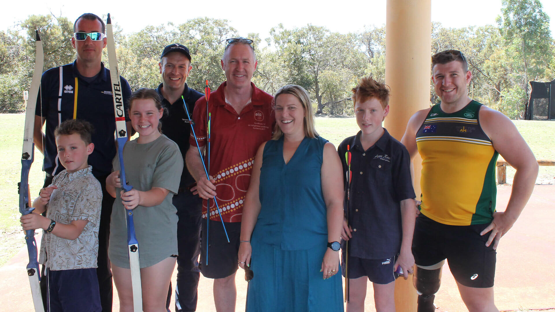 VSA WA Archery event - Bonnor family + MH, Rob Turner and Mark Daniels
