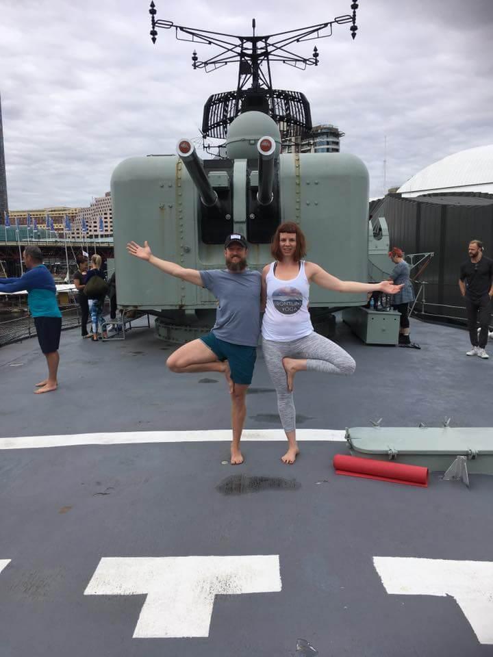 Frontline Yoga HMAS Vampire